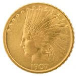 $10 gold eagle Indian head coin
