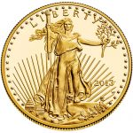 Gold Eagle with Lady Liberty