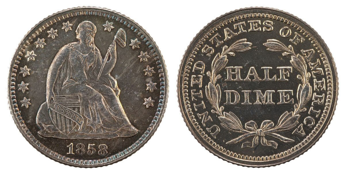 US Coin Seated Liberty Half Dime